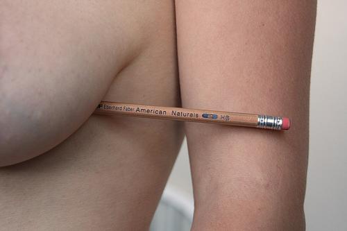 Boob pencil test
